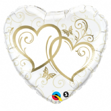 "Gold Entwined Hearts Foil Balloon (18"") 1pc"